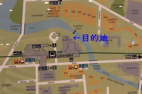 Lavender駅周辺地図