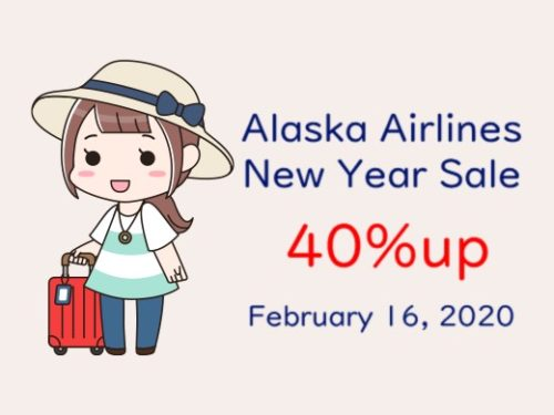Alaska Airlines NewYear 40%up Promotion